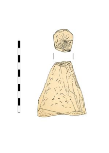 bone with proccesing traces, fragment