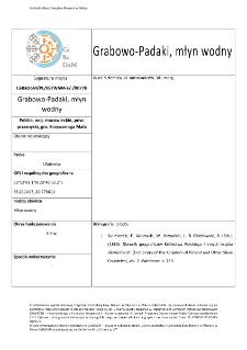 Grabowo-Padaki, młyn wodny