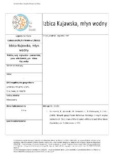 Izbica Kujawska, młyn wodny