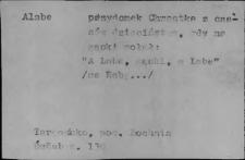 Przezwiska i przydomki ludowe XIX i XX w.; Pojedyncze karty (różne litery) 2