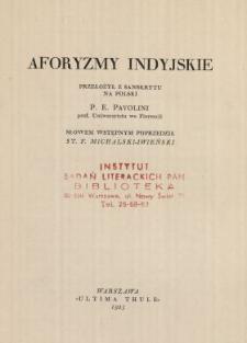 Aforyzmy indyjskie