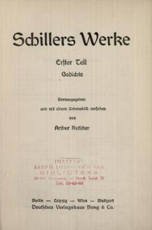 Schillers Werke. 1 Tl, Gedichte