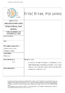 Orłów/Orłowo, steam mill