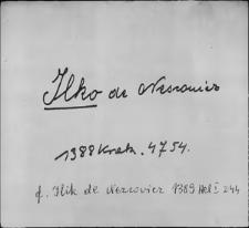 Kartoteka Słownika staropolskich nazw osobowych; Ilko - Iwa
