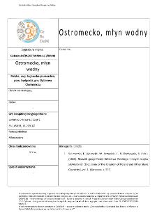 Ostromecko, watermill