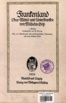Frankenland : Ober-, Mittel- und Unterfranken