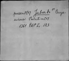 Kartoteka Słownika staropolskich nazw osobowych; Jab - Jadw