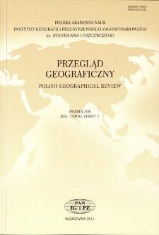 Przegląd Geograficzny T. 83 z. 1 (2011), Kronika