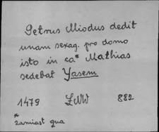 Kartoteka Słownika staropolskich nazw osobowych; Jas - Jaw