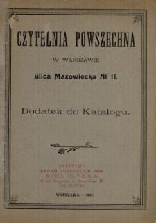 Katalog Czytelni Powszechnej w Warszawie ulica Mazowiecka Nr 11 : Książki naukowe polskie