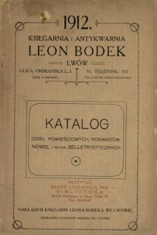 Katalog dzieł powieściowych, romansów, nowel i innych beletrystycznych