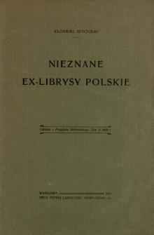 Nieznane ex-librisy polskie