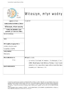 Witoszyn, watermill