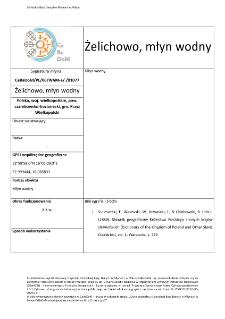 Żelichowo, watermill