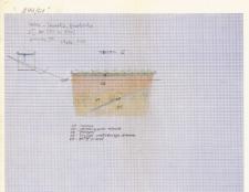 KZG, I 393 D, profil archeologiczny E wykopu