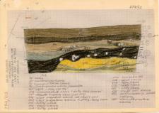 KZG, I 498 B, 499 A C, profil archeologiczny wykopu