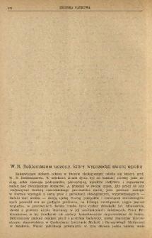 W. N. Beklemiszew uczony, który wyprzedził swoją epokę