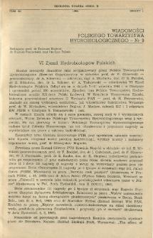VI Zjazd Hydrobiologów Polskich