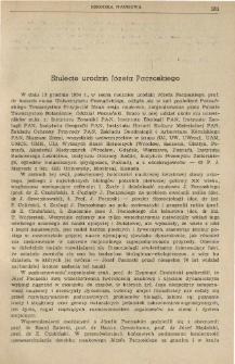 Stulecie urodzin Józefa Paczoskiego