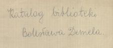 Katalog biblioteki Bolesława Demela