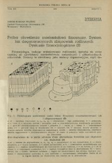 Próba określenia zniekształceń fitocenozy. System faz degeneracyjnych zbiorowisk roślinnych : Dyskusje fitosocjologiczne (3)