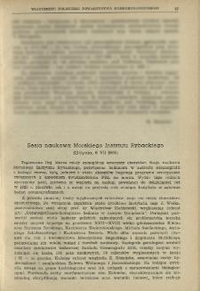 Sesja naukowa Morskiego Instytutu Rybackiego (Gdynia, 6 VII 1965)