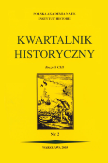 Kwartalnik Historyczny R. 112 nr 2 (2005), Title pages, Contents