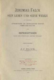 Jeremias Falck : Sein Leben und seine Werke