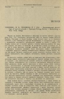 Vernberg, W. B., Vernberg, F. J. 1972 - Environmental physiology of marine animals - Springer-Verlag, Berlin-Heidelberg-New York, 346 pp.