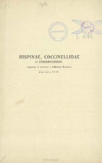 Hispinae, Coccinellidae et Endomychidae: Argentinia et vicinitate e collectione Bruchiana