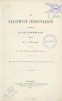 O krajowych skorupiakach z rodziny Calanidae