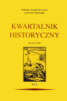 Kwartalnik Historyczny R. 113 nr 3 (2006), Title pages, Contents