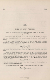 Note on Abel's theorem