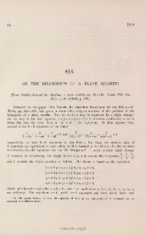 On the bitangents of a plane quartic