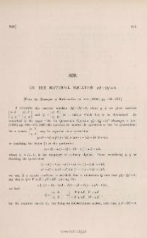 On the matrical equation qQ - Qq' = 0