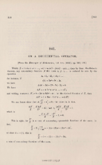On a differential operator