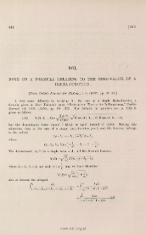 Note on a formula relating to the zero-value of a theta-function