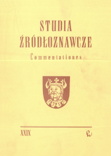 Studia Źródłoznawcze = Commentationes T. 29 (1985), Recenzje