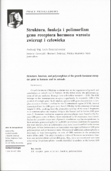 Structure, function, and polymorphism of the growth hormone receptor gene in humans and in animals