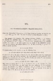 On Tschirnhausen's transformation