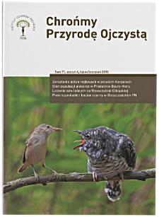 Ptaki szponiaste Accipitriformes oraz bocian czarny Ciconia nigra w Bieszczadzkim Parku Narodowym w okresie lęgowym 2009–2014