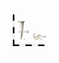 1. nail, iron