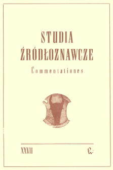 Studia Źródłoznawcze = Commentationes T. 27 (1983), Recenzje