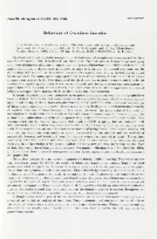 Book review. Behaviour of Crocidura leucodon