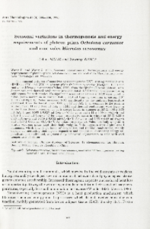 Seasonal variations in thermogenesis and energy requirements of plateau pikas Ochotona curzoniae and root voles Microtus oeconomus