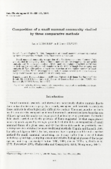 Composition of a small mammal community studied by three comparative methods