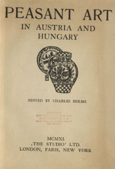 Peasant art in Austria and Hungary