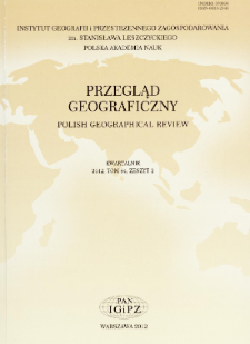 Geograficzne badania niepełnosprawności ze szczególnym uwzględnieniem codziennej ruchliwości osób niepełnosprawnych w przestrzeni miasta – część I = Geographical research on disability with special reference to daily mobility of disabled people in urban space – Part I