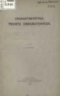 Charakterystyka teoryj dedukcyjnych