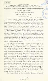 Vergleichend-morphologische Untersuchungen an den Podonominenlarven (Díptera, Chironomidae) : I. Labrum und Prämandibeln